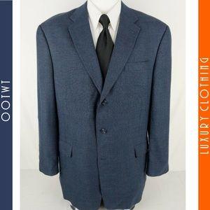 HART SCHAFFNER MARX Saks 1887 46L Blue Sport Coat